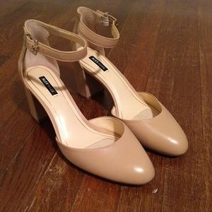 Alex Marie Denice Pink Marble Heel 8.5
